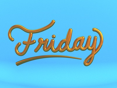 Friday Lettering.