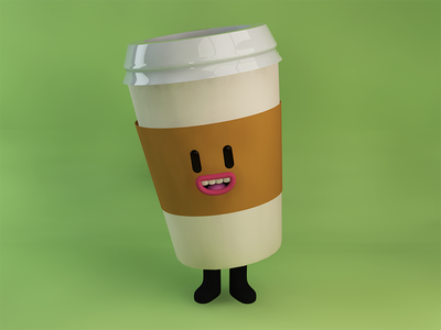 Coffee. vray dailyrenderc4d davegamez character design 3d monday coffee