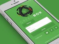 Greenbox login screen