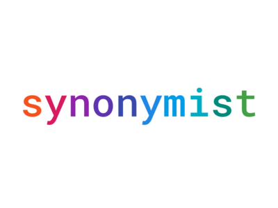 Synonymist typography colorful dots llc minimal concept colorful dots colorfuldots branding logo