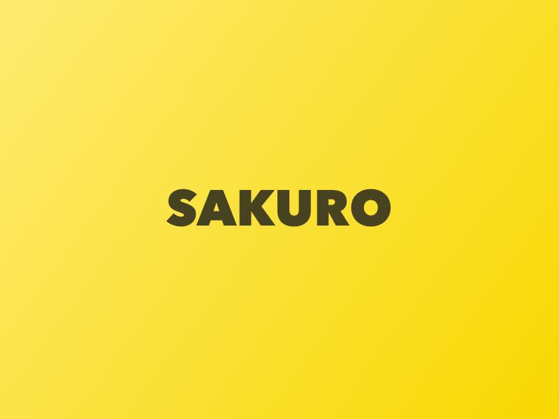 Sakuro typography design colorful dots llc minimal concept colorful dots colorfuldots branding logo