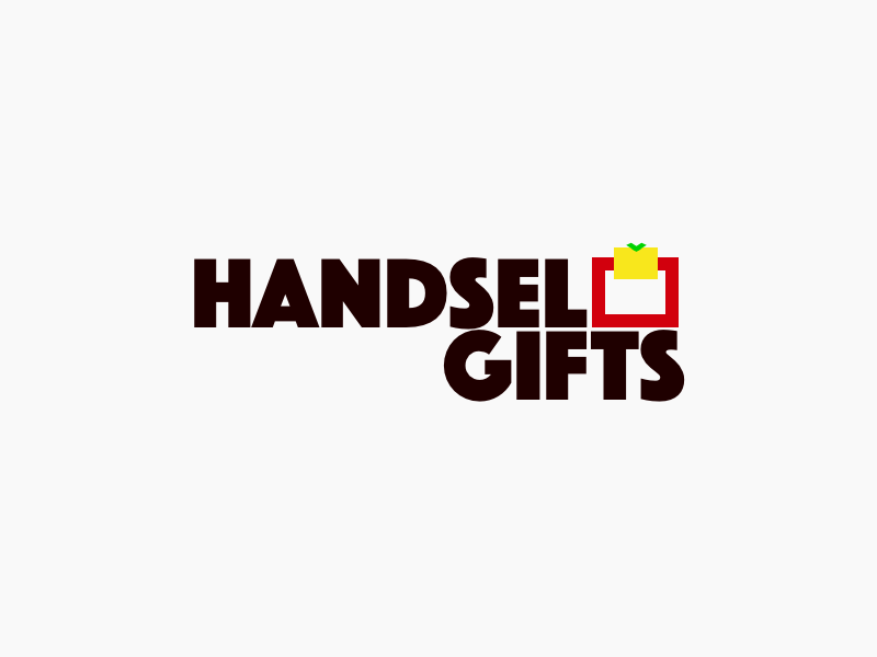 Handsel Gifts typography illustration design colorful dots llc minimal concept colorful dots colorfuldots branding logo