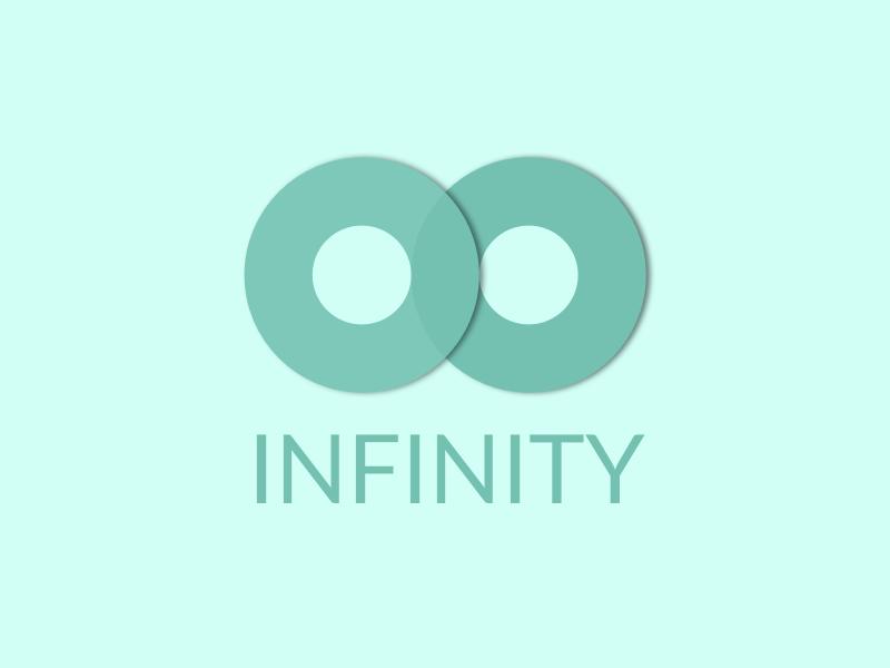 Infinity illustration design colorful dots llc minimal concept colorful dots colorfuldots branding logo