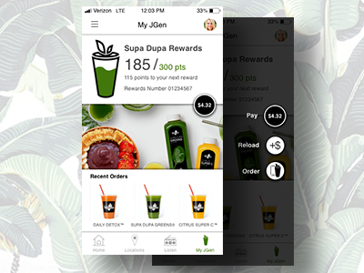 "Daily UI #006: User Profile - ""Juice Generation"""