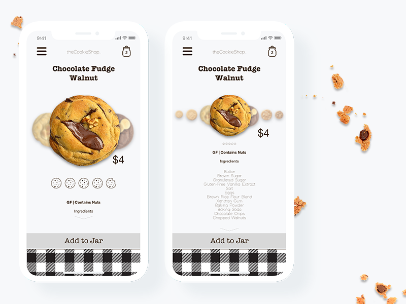 Daily UI 012: E-Commerce mobile shop ecommerce cookies iphone x design mobile ios user interface design ux user experience design ui nyc graphic design design challenge daily ui