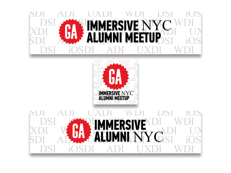 GA Immersive Alumni Meetup - Logos/Web-banners nyc meetup logos social media ios user experience design alumni dev ux general assembly
