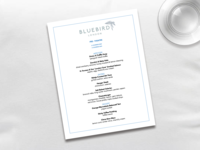 Bluebird Menu - Design Challenge