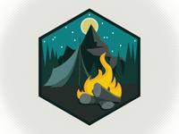 Campsite Badge Logo