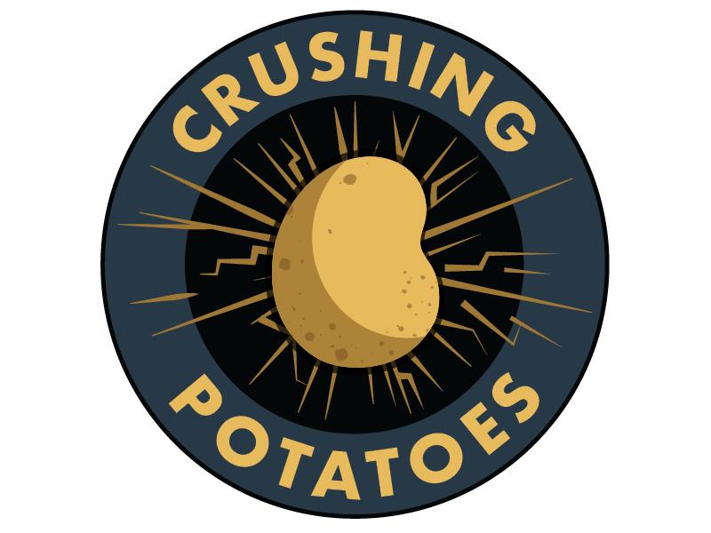 Logo Crushing Potatoes design crush band logo logo graphic  design rock band band rock music potatoes