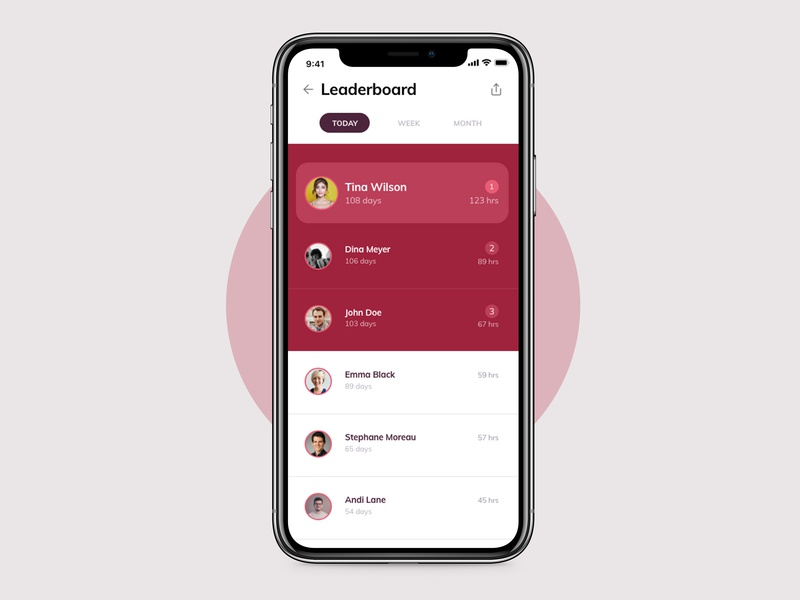 Daily UI #019 - Leaderboard adobexd leaderboard 019 mobile challenge app ui design dailyui