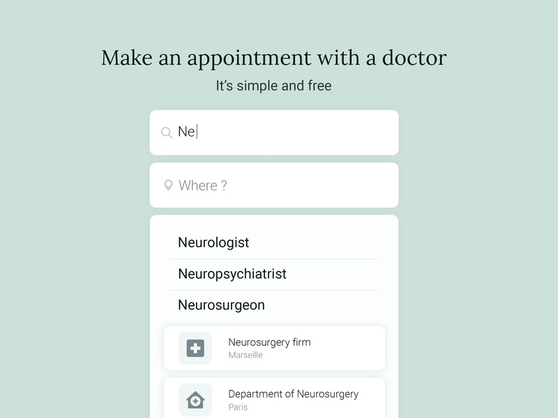 Daily UI #022 - Search doctor app 022 ux mobile challenge app ui design dailyui