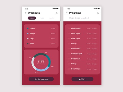 Daily UI#041 - Workout Tracker