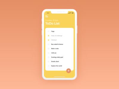 Daily UI #042 -  ToDo List