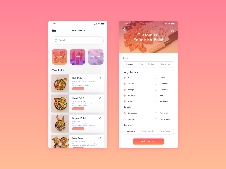 Daily UI #043 - Food Menu customize menu food app food 043 mobile app ui challenge design dailyui