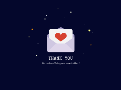 Daily UI #077 - Thank You