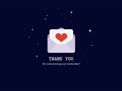 Daily UI #077 - Thank You subscribe thank you thankyou 077 challenge ui design dailyui