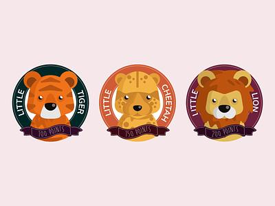 Daily UI 84 - Badges animals badges 084 challenge ui design dailyui