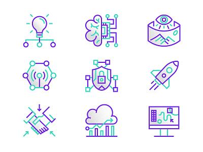 DIGI_X 18 Icons conference illustration design icons