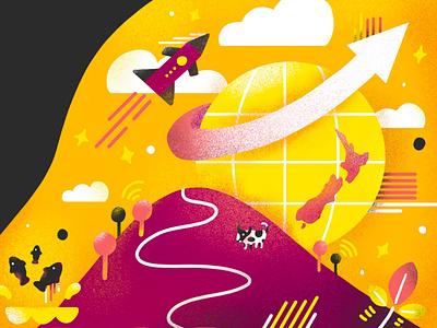 Go Global 2018 technology agriculture innovation globe go global nz new zealand conference illustration