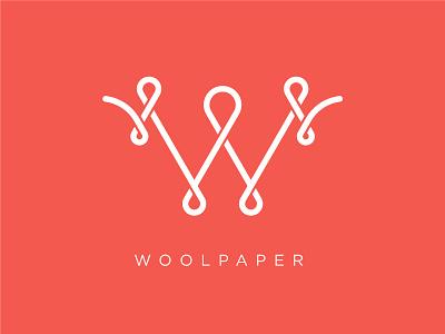 Woolpaper monoline logo design new zealand merino wool logo woolpaper