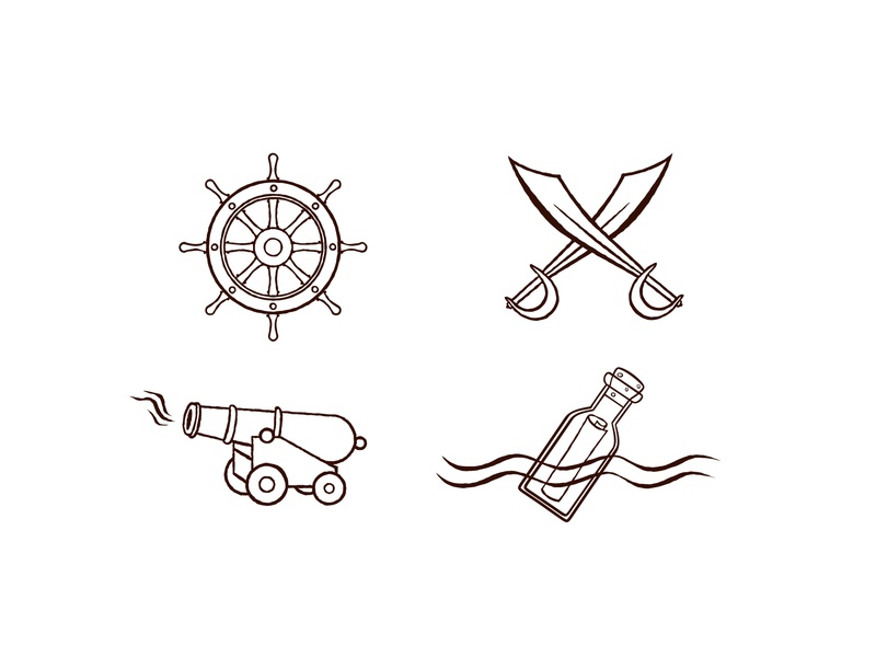 Pirate Icons illustration vector icons pirate