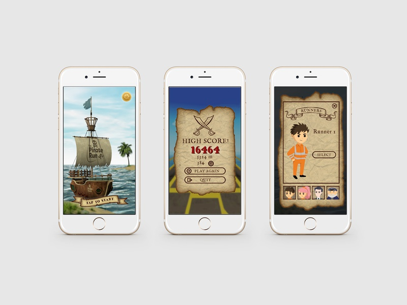 Pirate Game UI Design icon design screen ui mobile ui game pirate