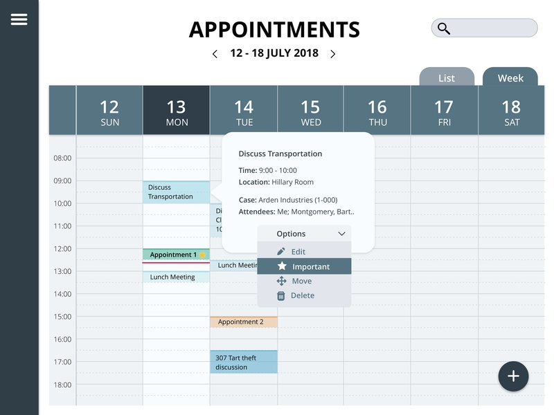 Calendar app for ipad ui mobile design screen ui ios ipad2 sketch