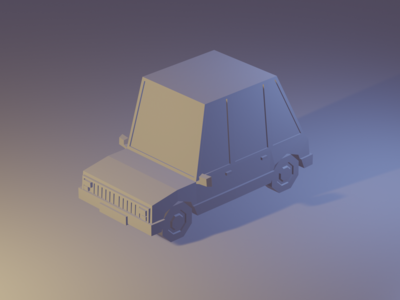WIP Low Poly Car wip low poly art 3d model car low poly
