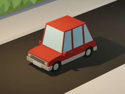 Low Poly Car 3d 3d modeling car low poly