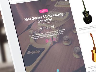 Catalog Page design catalog ui guitars commence
