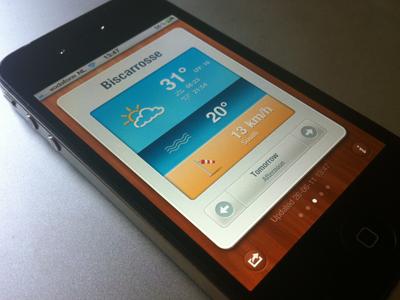 BeachWeather app for iPhone ios iphone beach summer weather ui