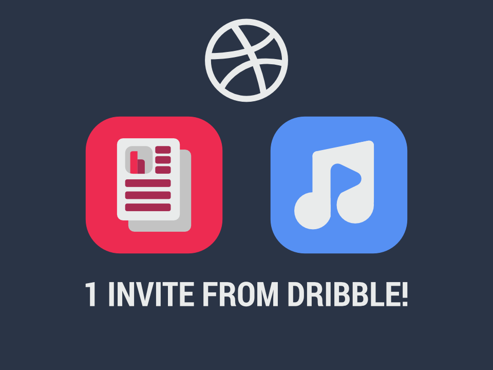 1 invite + icons app icon design
