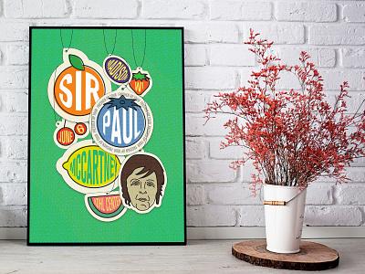 Paul McCartney Poster music poster poster illustration