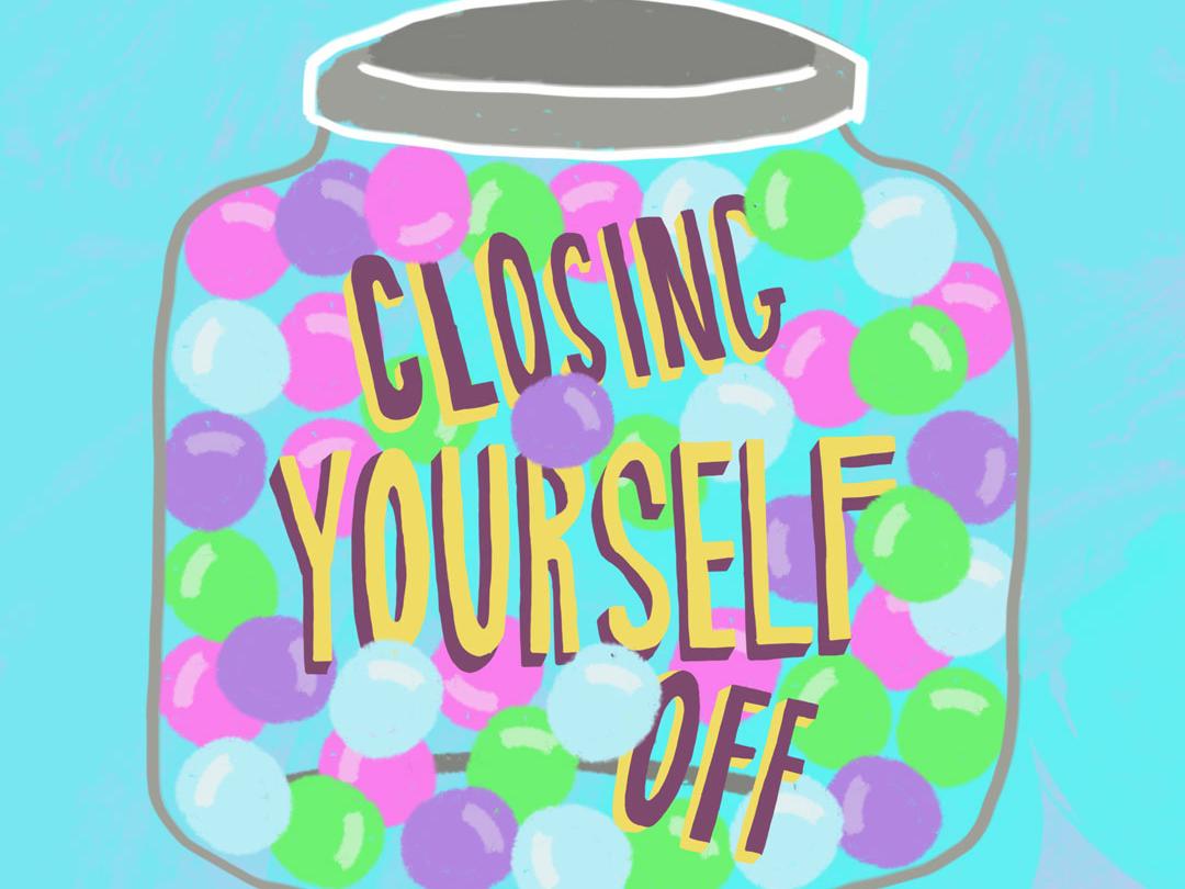 Sweet Darkness Candy Jar lettering illustration