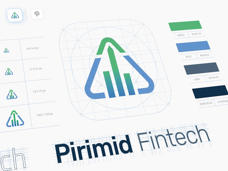 Pirimid Fintech - Branding & Logo Design web application development design agency mobile app development branding and identity branding agency branding concept logo design vector design ux ui branding illustration logo