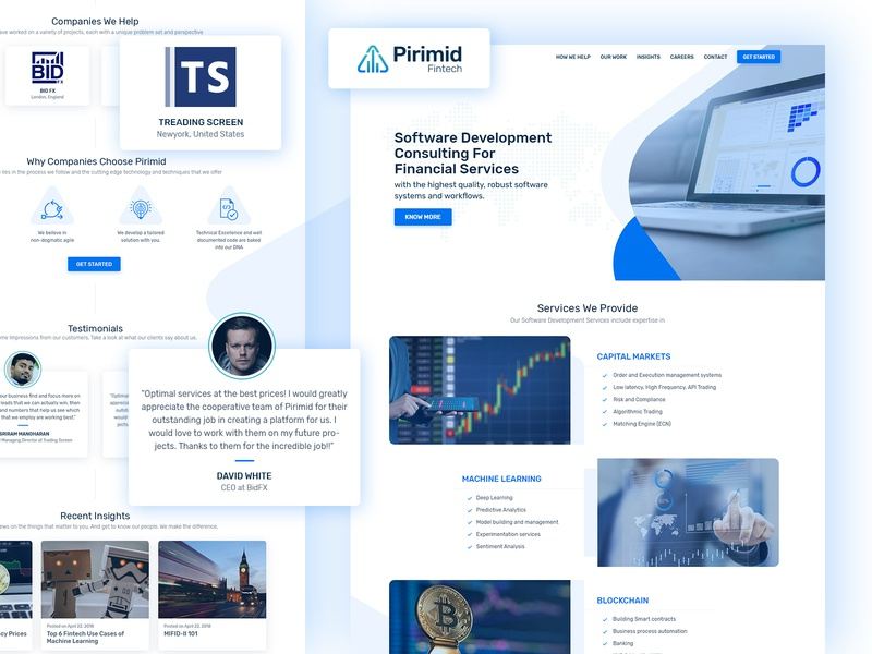 Pirimid Fintech - Home Page marketing landing page wordpress website website ui  ux design design