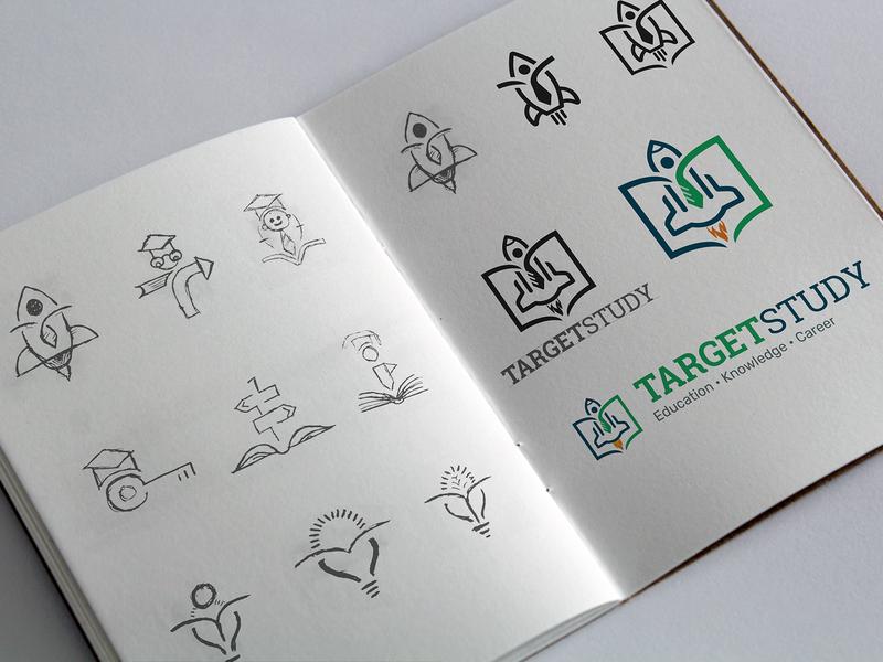 TargetStudy Logo Concepts and Branding