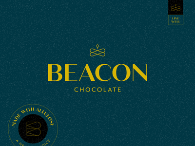 Beacon Chocolate Logo icon badge design typography branding logo