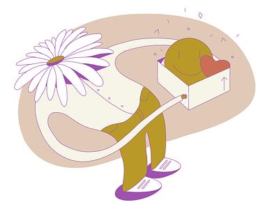 Flower Head Illustration vectorart flatdesign graphic flower characterdesign character illustration art illustration