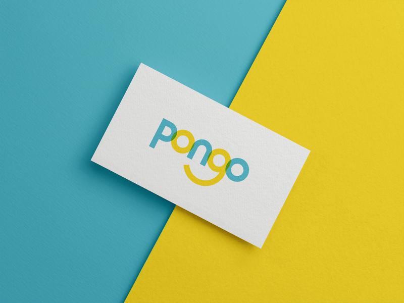 Pongo Logo vector design typography icon sketch illustrator app logo identity branding