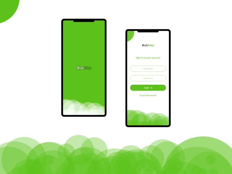 Login Screen Concept app vector ux ui design