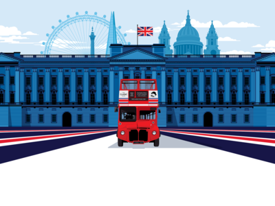 The Classic Tour union jack london eye buckingham palace london doubledecker routemaster red bus big bus bus website design website visual identity design ux ui vector branding marianna orsho mariannaorsho illustration