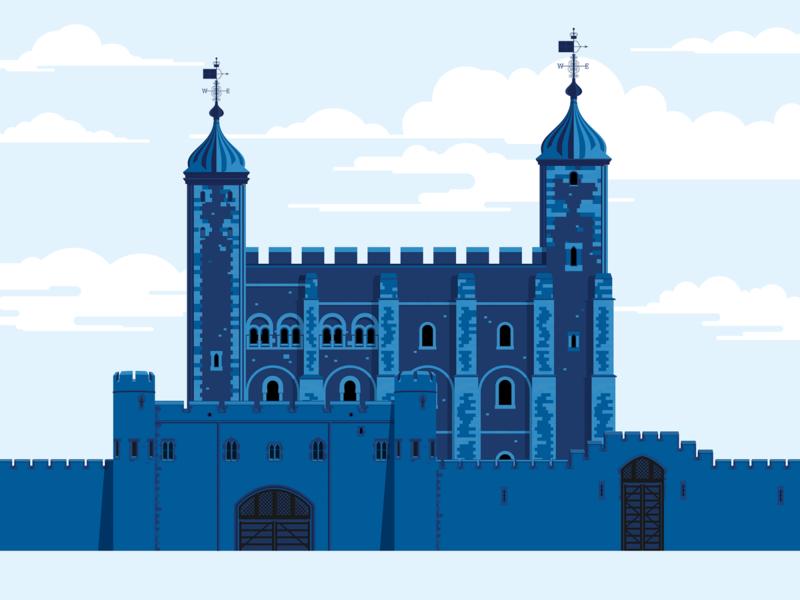 Tower of London bus tour london bus uk london tourism vector art digital illustration digital art illusration art vector illustration the classic tour design visual identity marianna orsho branding mariannaorsho