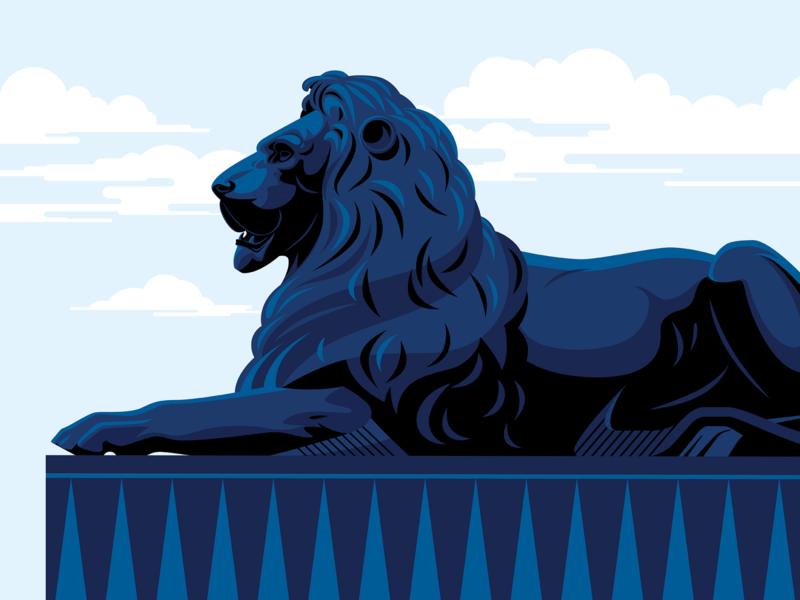 Trafalgar Square Lions uk united kingdom trafalgat square tourism tour bus london tours classic tour the classic tour trafalgar square lion vector art vector ui visual identity marianna orsho branding mariannaorsho illustration