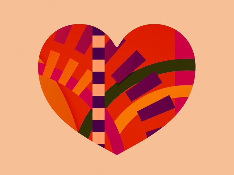 Detail from 'Merry-Go-Round' colourful geometric illustration design affinity designer vectorart vector illustration illustrations vector girl marianna orsho mariannaorsho illustration
