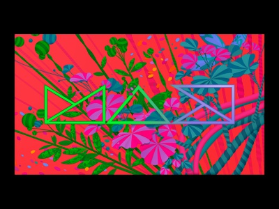 Adobe MAX Video Call Background #1: MAX cocreate max adobe max adobe psychadelic colourful nature floral vector illustration vector art vector visuals background video background video call video design marianna orsho mariannaorsho illustration