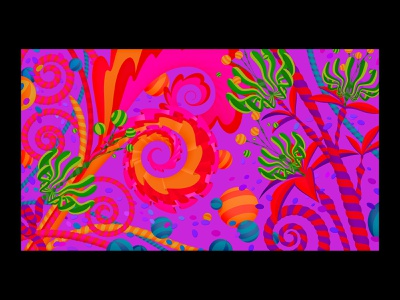 Adobe MAX Video Call Background #2: Artist's Choice cocreate max vector psychadelic vector illustration vector art garden alien flowers floral event creativity adobe photoshop adobe illustrator adobemax adobe max adobe marianna orsho illustration mariannaorsho