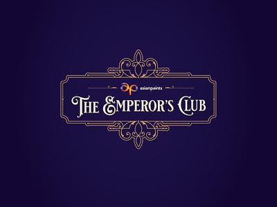 Emperor's Club Event Logo typography branding event identity