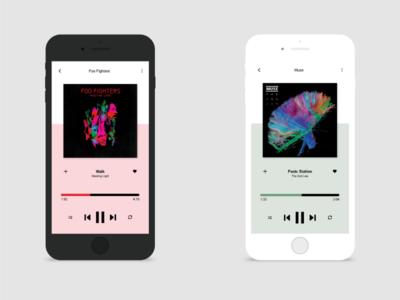 Daily UI :: 009 - Music Player music player app design ui design ui