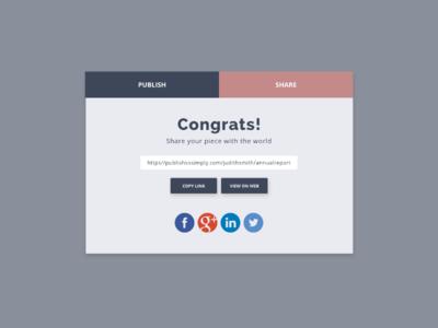 Daily UI :: 010 - Social Share daily ui challenge social share share modal web app ui design ui